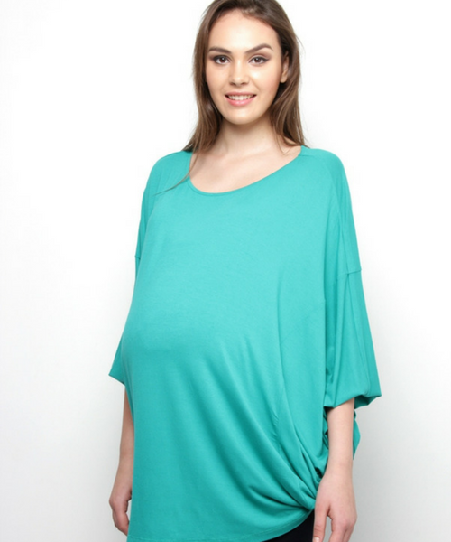 Batwing sleeves matrnity top