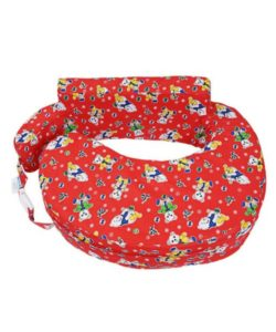 Comfeed Pillows By Nina Nursing And Feeding Pillow Teddy Print - Red