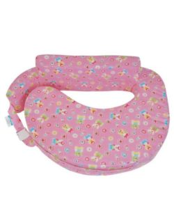 Comfeed Pillows By Nina Nursing and Feeding Pillow Teddy Bear Print - Pink