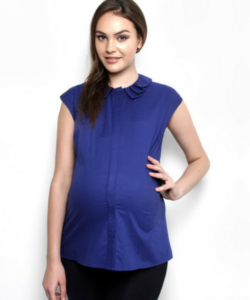Cotton Origami Collar top