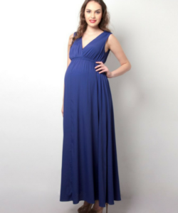 Drape Maxi Maternity Dress