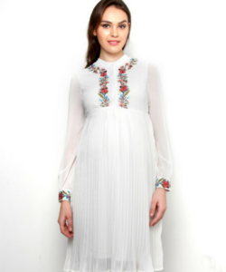 Embroided Maternity Dress