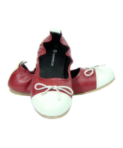 Mehroon & White Maternity Ballerinas