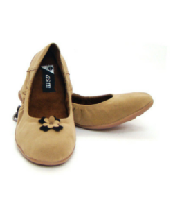 Velvet Fabric Upper Beige