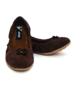 Velvet Fabric Upper Brown