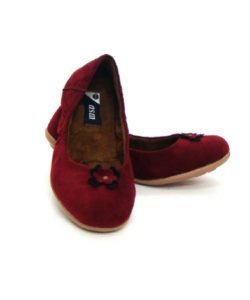 Velvet Fabric Upper Red