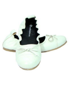 White Maternity Ballerinas