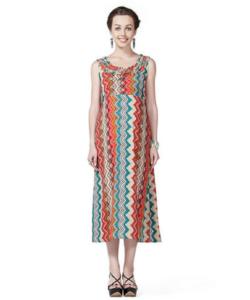 House of Napius Radiation Safe Aztek Printed Sleeveless Maxi Dress