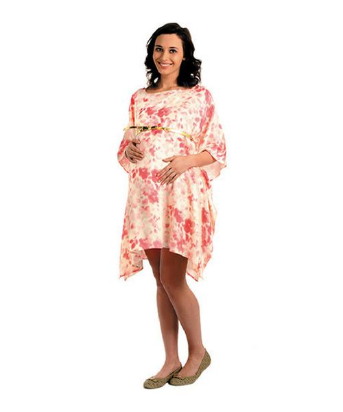 d305edb873e House of Napius Radiation Safe Comfortable Round Neck Maternity Dress F5