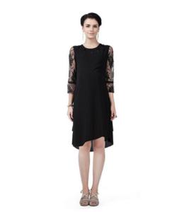 House of Napius Radiation Safe Cutwork Neckline Lace Dress
