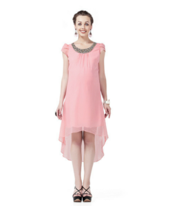 House of Napius Radiation Safe Embroidery Maternity Dress
