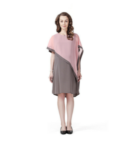 House of Napius Radiation Safe Grey Solid Dress with Cape