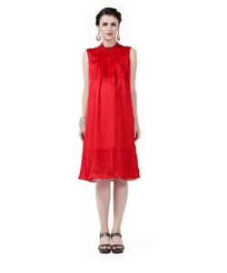 House of Napius Radiation Safe Hineck Pleated Dress