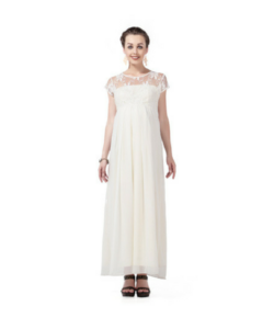 House of Napius Radiation Safe Lace & Georgette Long Dress