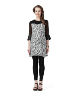 House of Napius Radiation Safe Leather Cuff Print Tunic
