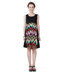 House of Napius Radiation Safe Multicolor Pleats Dress