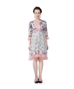 House of Napius Radiation Safe Ruffel Hem Dress