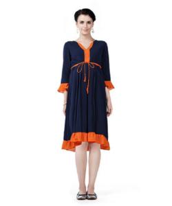 House of Napius Radiation Safe Solid Ruffel Hem Dress
