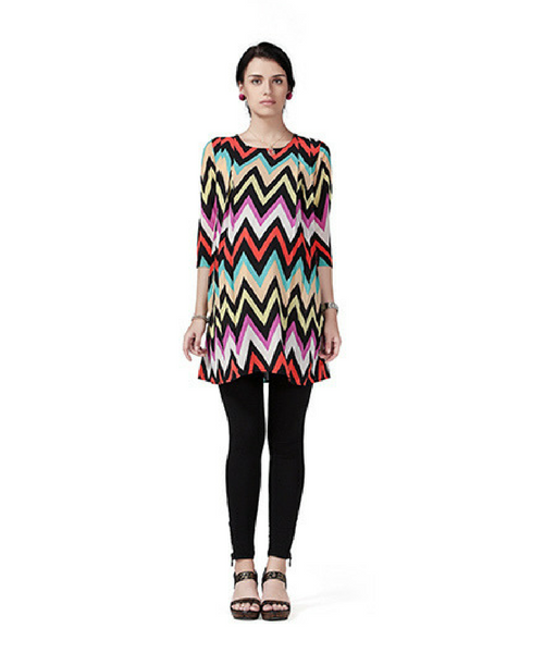 House of Napius Radiation Safe Zig Zag Print Tunic
