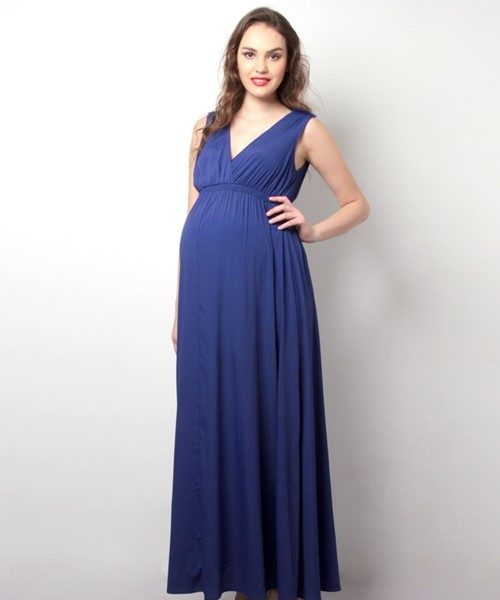 Drape Maxi Maternity Dress