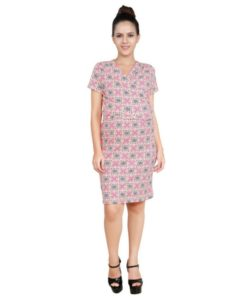 Blush 9 Maternity's Overlapping Maternity and Nursing Dress-Full
