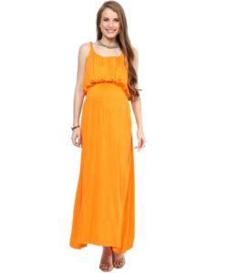 Orange Maternity Maxi (1)