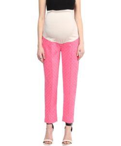 Pink Dot Printed Pants (1)