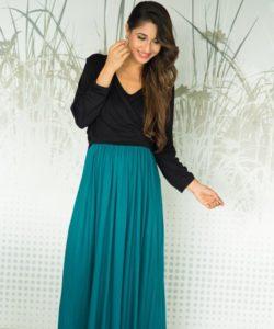 Emerald Jade Maternity & Nursing Wrap Dress (1)