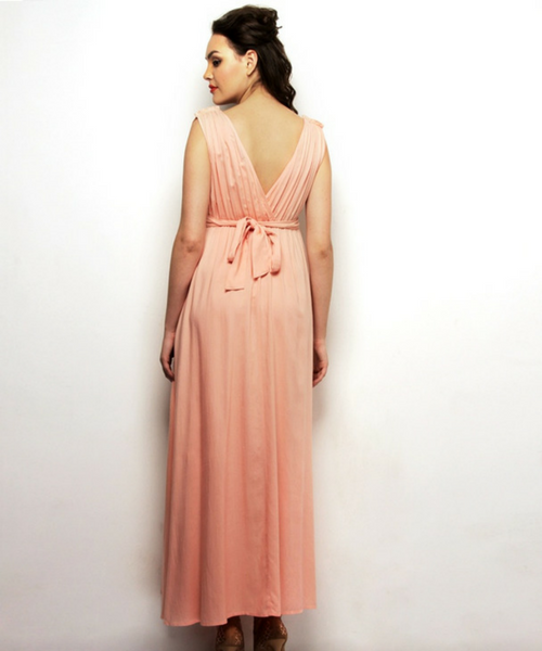 Drape Maxi Maternity Dress with Ties 2