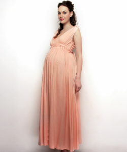 Drape Maxi Maternity Dress with Ties
