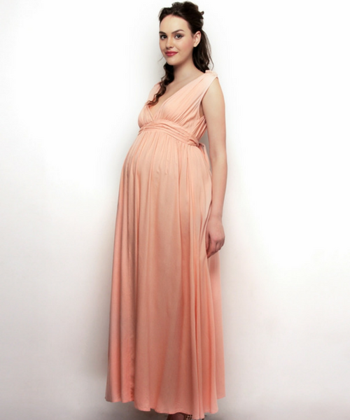 Drape Maxi Maternity Dress with Ties