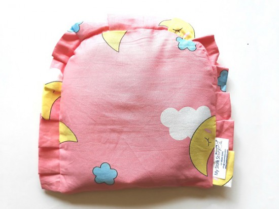 My Stork Story Newborn Head Shaping Pillow Filled With Rai