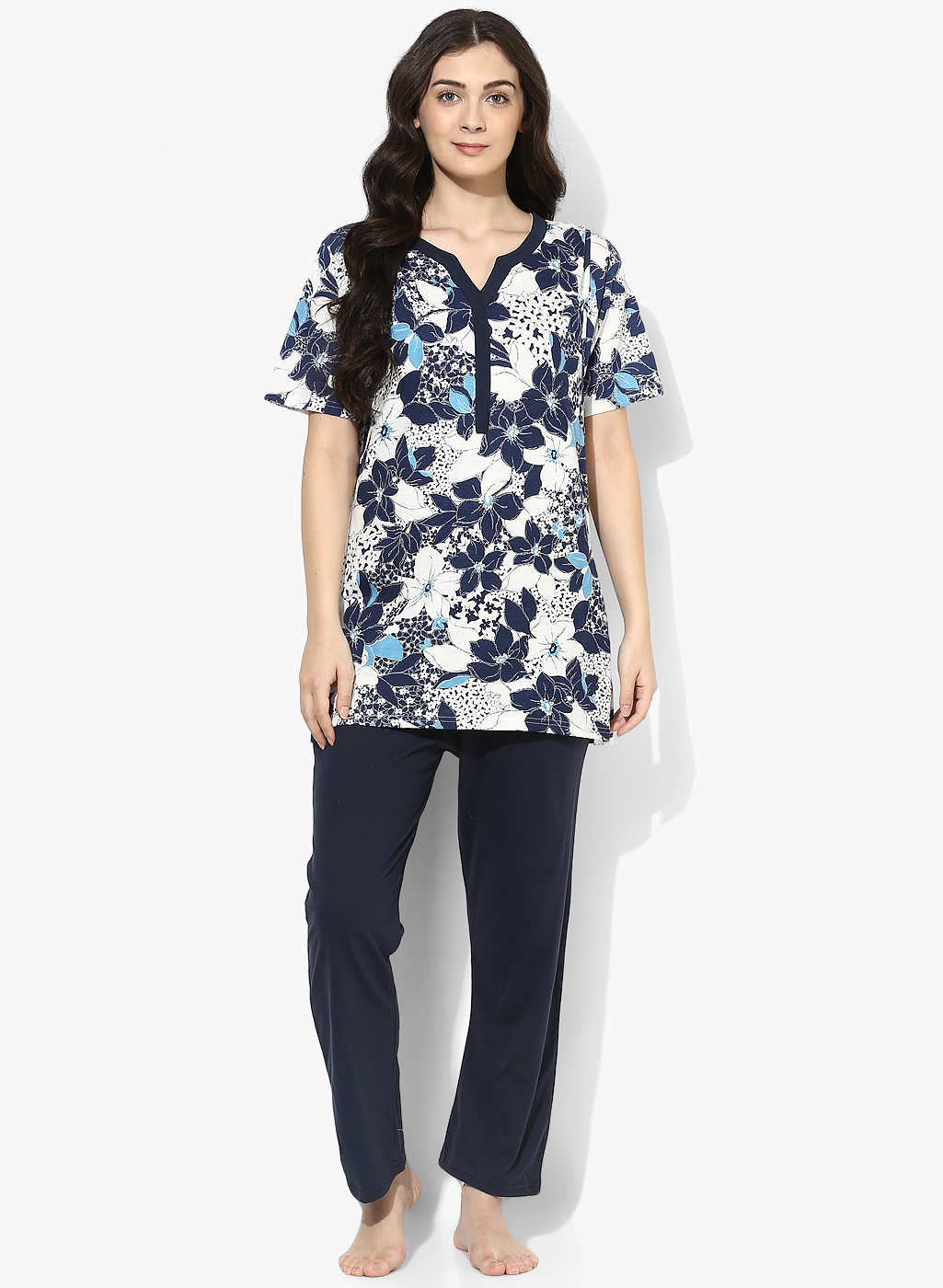 9teenAGAIN Women s Floral-Printed Cotton Nursing Night-Suit - All ... 4bcdabe34