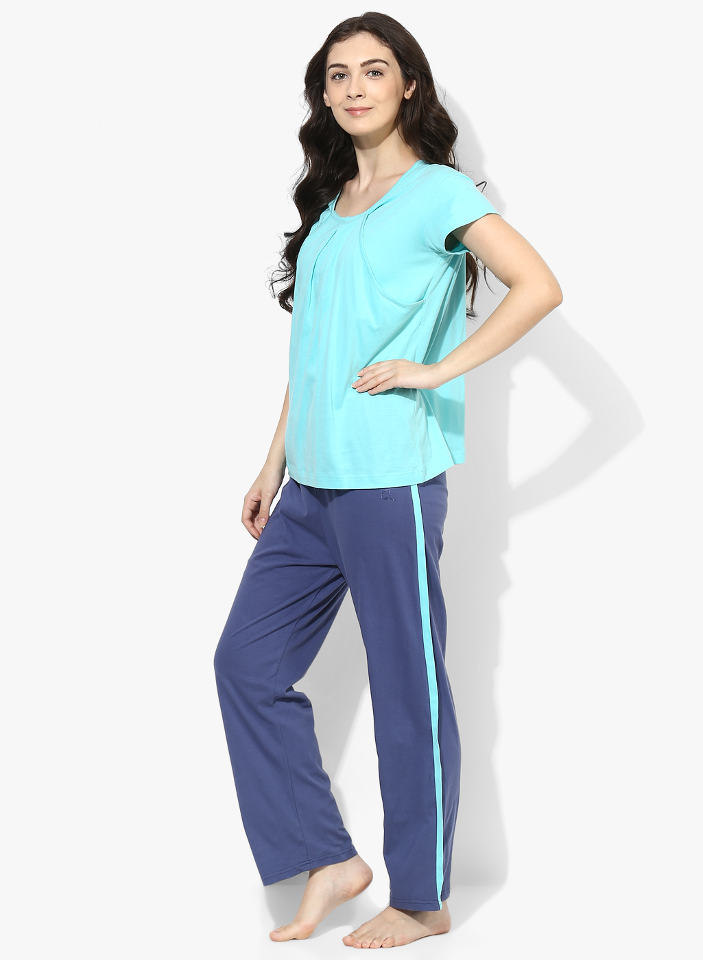 873c75265a 9teenAGAIN Women s Turquoise   teal nursing nightsuit set - All ...