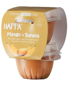 Happa Organic Mango + Banana Puree, Baby food for 6 months+, Stage-2, 110 g Tub, 2 Count (2)