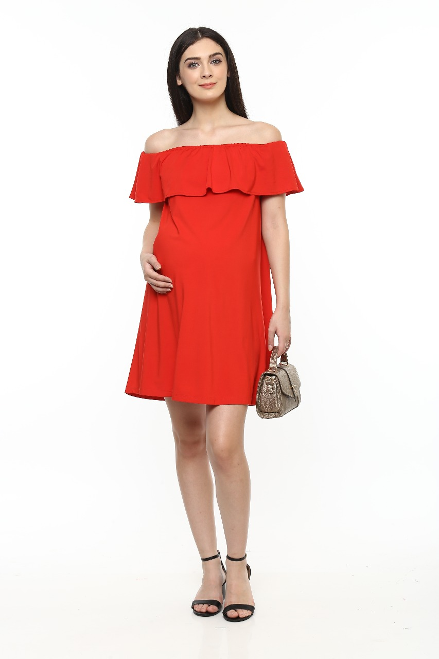 64fd050aa622f Without Sleeves Off Shoulder Dress - All Maternity Needs Under One ...